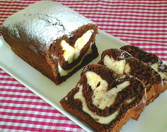 Шоколадный пирог с кабачком и творожной начинкой