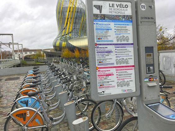 Станция проката велосипедов в Бордо