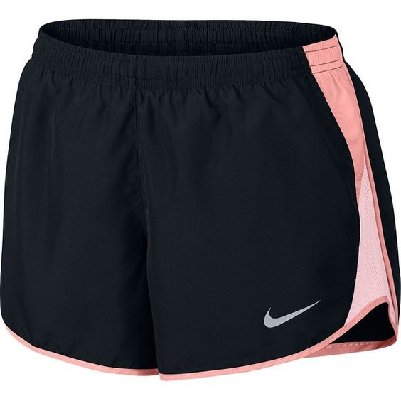 Women's Nike Dry Reflective Running Shorts (£22) ❤ liked on Polyvore featuring activewear, activewear shorts, grey, nike sportswear, nike activewear and nike