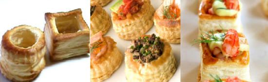 Vol au vent how to make vols au vent cases and collection for How to make canape cases