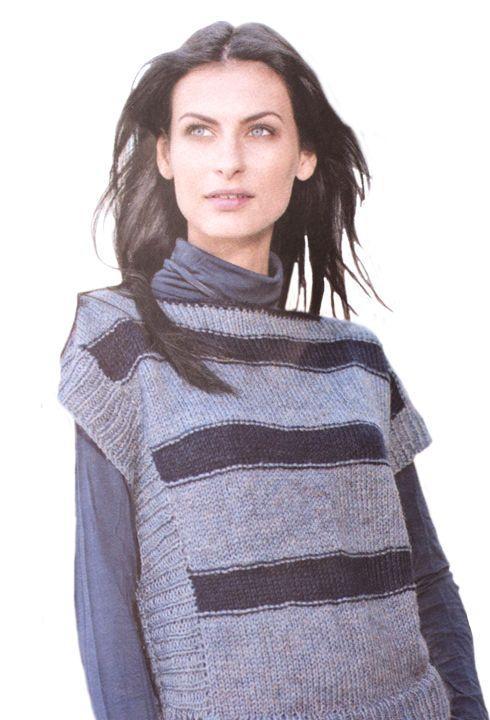 Modèle pull rayé Yarn3 Femme