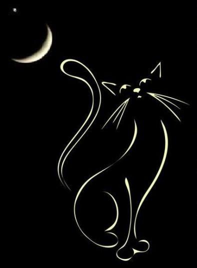 Drawing tattoo dark night 28 ideas | Black cat art, Cat painting, Cat art
