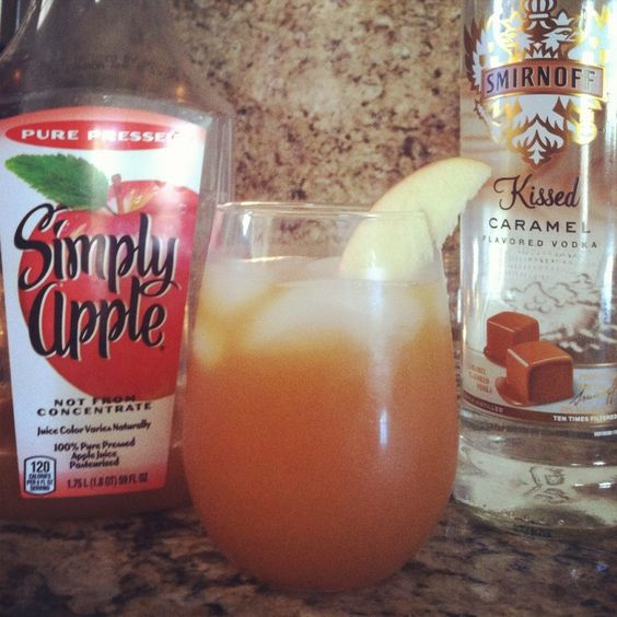 1 part Smirnoff caramel vodka, 2 parts Simply Apple Juice.