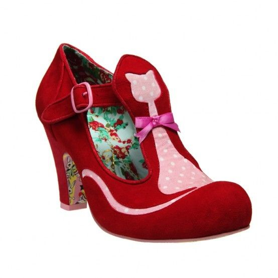 Shoesday's Hot Red and Pink Cat Pumps