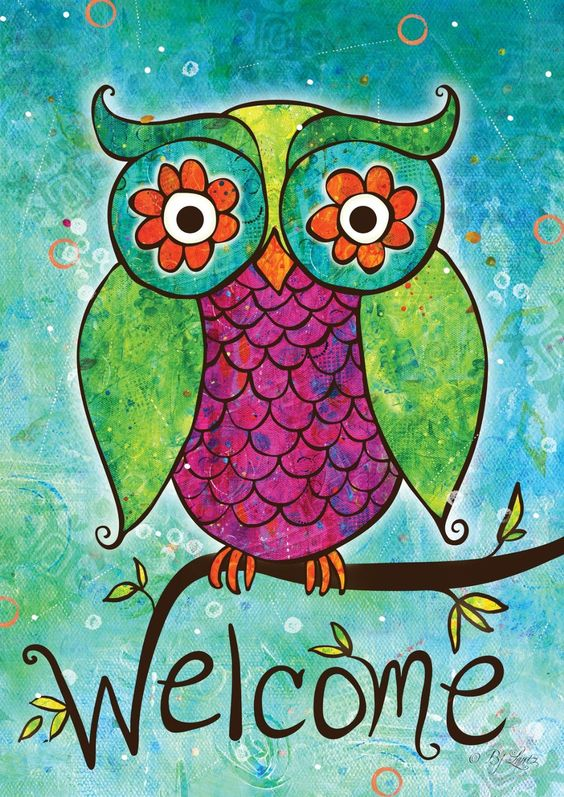 Toland Home Garden Rainbow Owl 125 x 18 Inch Decorative Garden