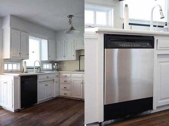 Acheter du papier autocollant en acier inoxydable pour que vos appareils ménagers semblent tout neuf.  Maison : 30 choses simples qui rendront votre maison géniale