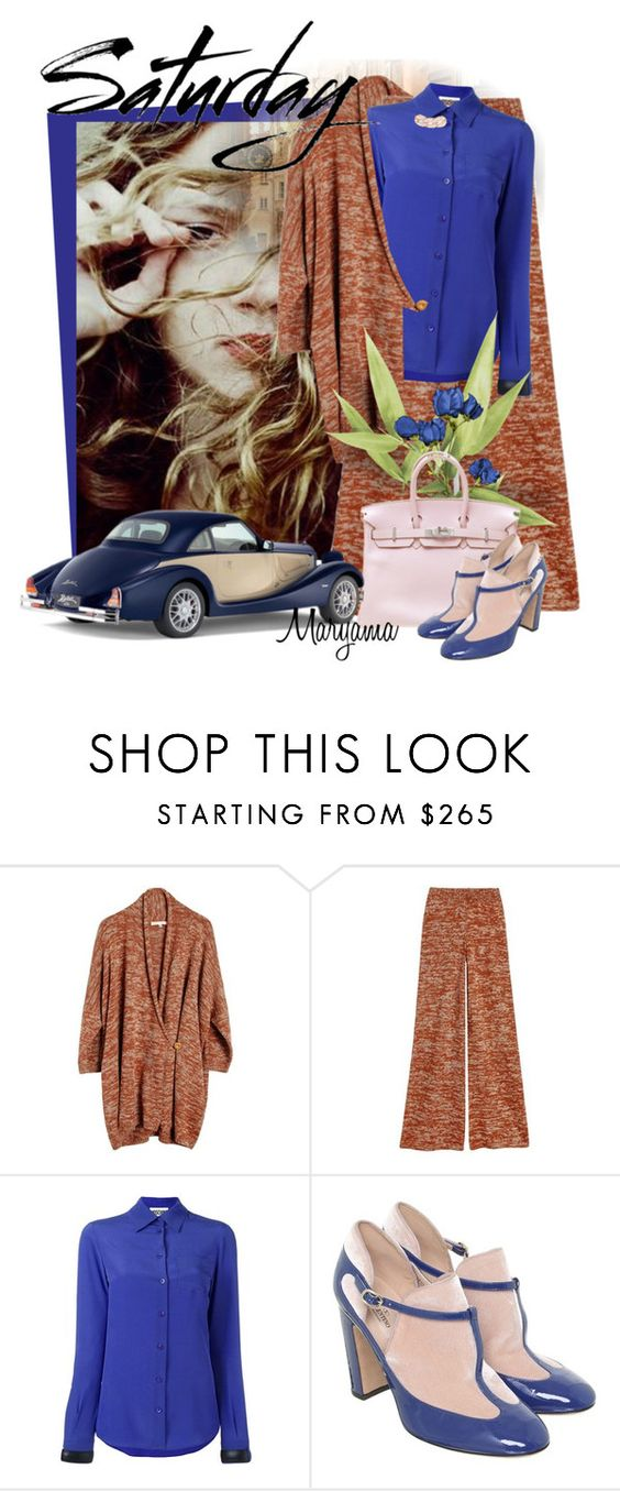 """1035"" by klukina-mv ❤ liked on Polyvore featuring Luisa et la Luna, Moschino, Hermès, Valentino and DIANA BROUSSARD"