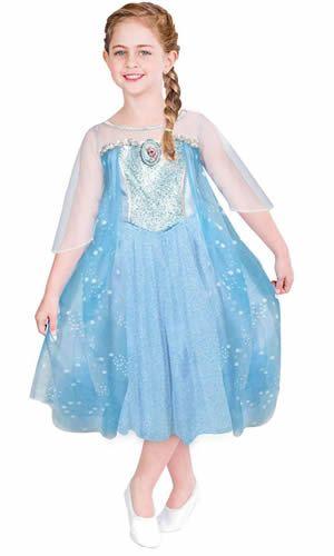 Linda Fantasia Elsa infantil Frozen Luxo Rubies :: FantasiasCarol