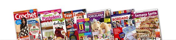 Revistas de manualidades, tejido, pintura, porcelana fria, cocina, salud, etc