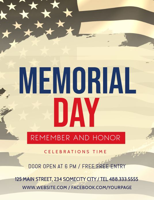 Memorial Day Celebration Flyer Remembrance Day Posters Memorial Day Celebrations Memorial Day