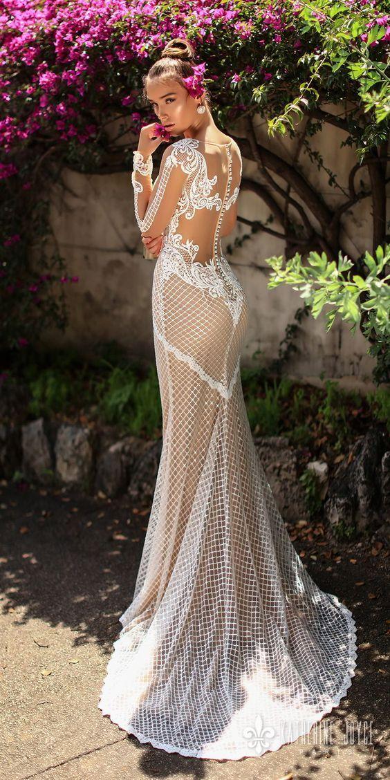 Katherine Joyce 2018 Wedding Dresses Ma Cherie Bridal Collection Sheer Wedding Dress Wedding Dresses 2018 Dream Wedding Dresses