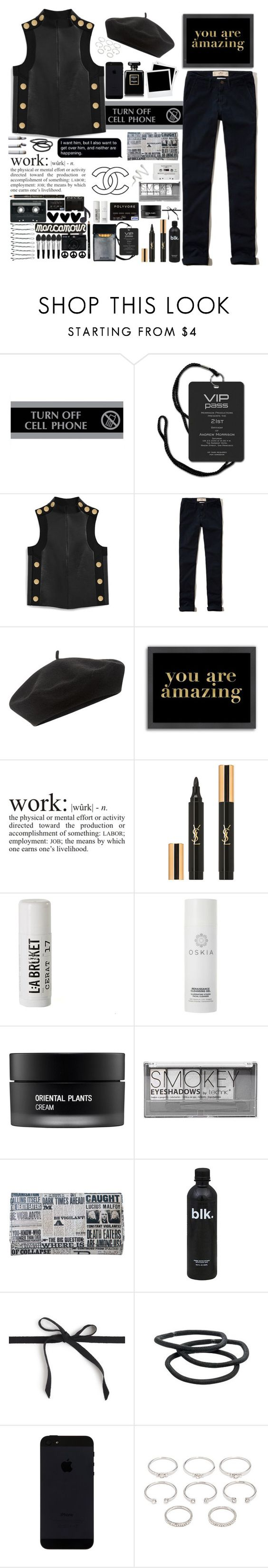 """""""♣️."""" by parkmona ❤ liked on Polyvore featuring U.S. Stamp & Sign, Mulberry, Hollister Co., Accessorize, Americanflat, WALL, Yves Saint Laurent, L:A Bruket, Oskia and Chanel"""