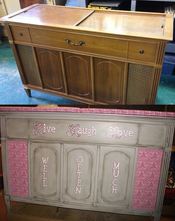 Before and after pics, repurposing a vintage stereo ...