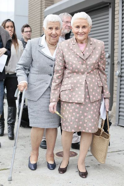 ♥ Even old people look fabulous at new york fashion week ♥