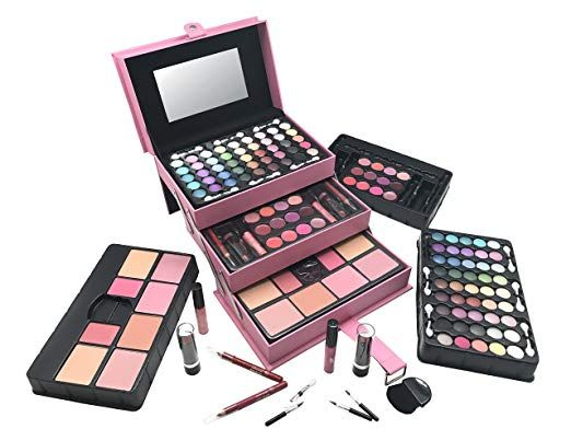 8 Br All In One Makeup Kit Eyeshadow Blushes Powder Lipstick More Holiday Gift Set Lightpink Makeup Kit Makeup Gift Sets Makeup Gift