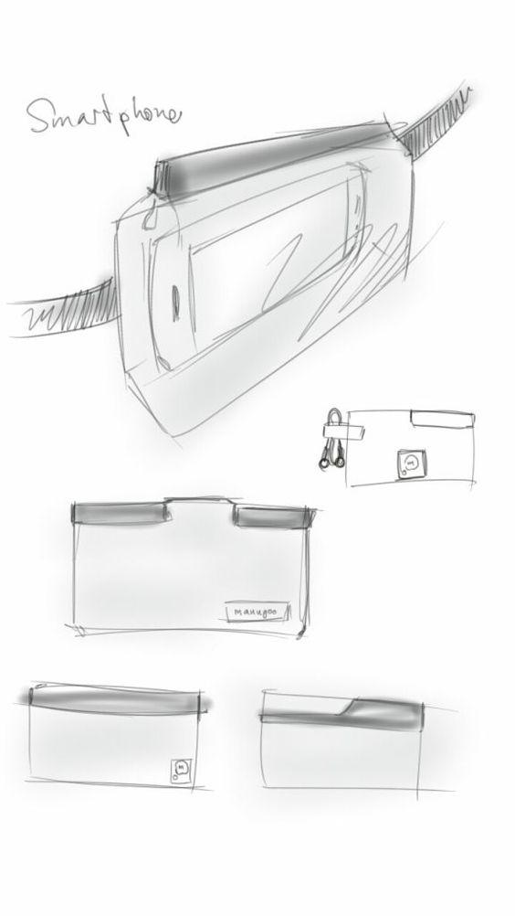 Smartphone Gürteltasche Eine Tasche für das Smartphone, mit Magnetverschluss, die am Gürtel befestigt wird.