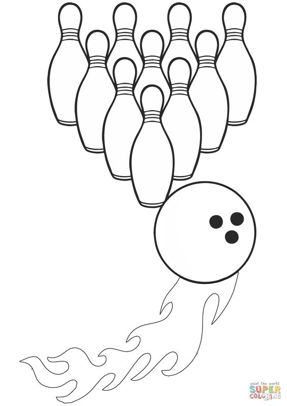Bowling Coloring Pages Free To Color