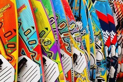 Fotobehang - surfbretter - Foto4art.be