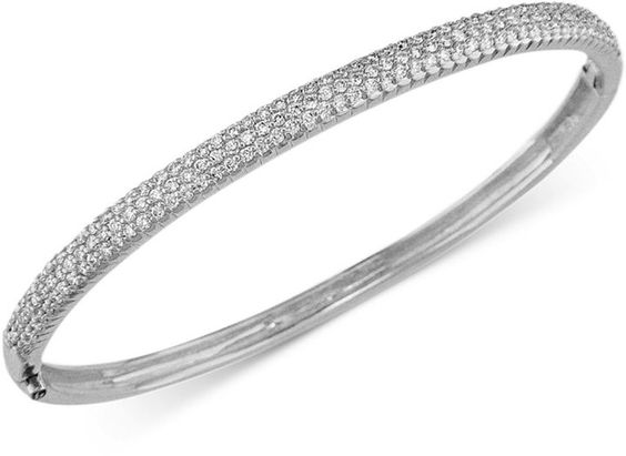 Trio by EFFY Pave Diamond Bangle in 14k White Gold (1-1/5 ct t.w.) on shopstyle.com