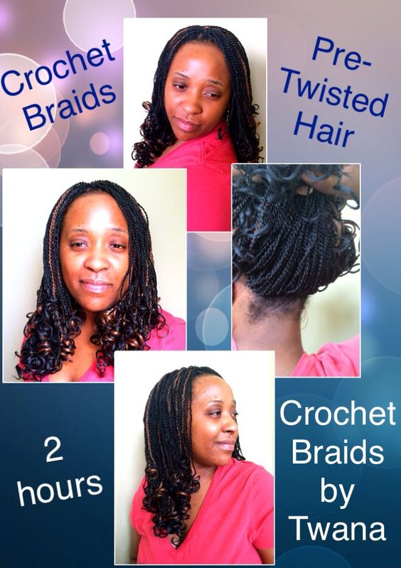 Crochet Braids with Pre-twisted hair from the Biba Lock n Twist ...