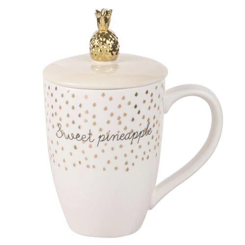 mug chapeau ananas en porcelaine