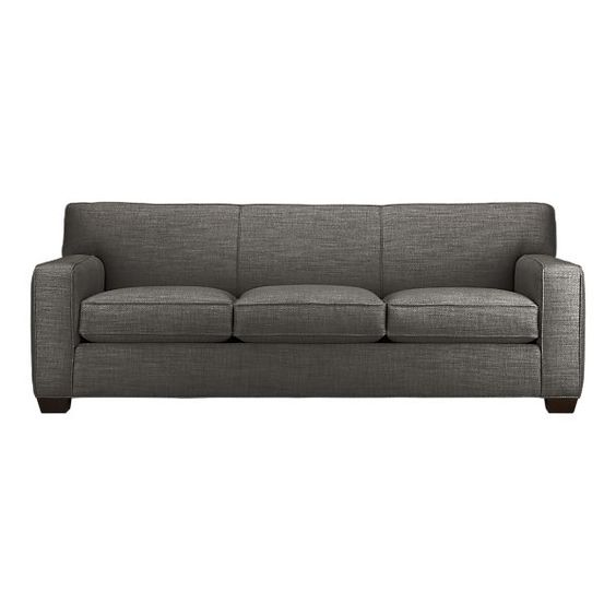 """Cameron Sofa. Sat on it in store, very sturdy, yet comfortable. In love with the stock color: """"Graphite"""" in the """"Monologue"""" material. Sofa 88""""Wx38""""Dx33""""H"""