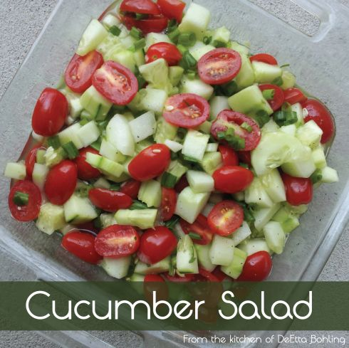 Cucumber Salad | Summer, Red peppers and Cucumber tomato salad