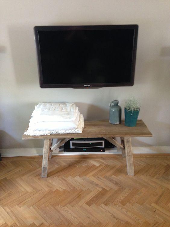 Tv meubel bankje van steigerhout steigerhout meubels for Tv meubel steigerhout