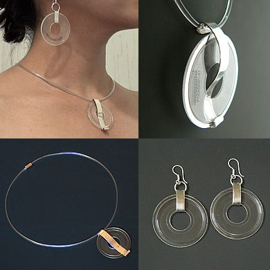 Jewelry Created from Recycled CDs