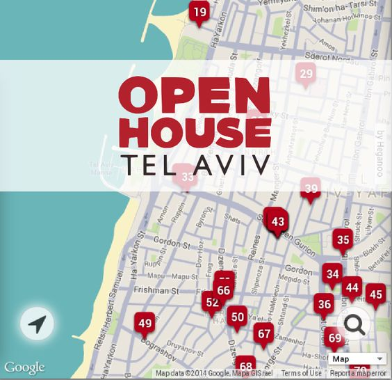 Open House Tel Aviv - 2014 For a one long weekend, a dozens of buildings are opened for visits, tours and discussions: private houses, public buildings and government, prayer houses and gardens - all for free!