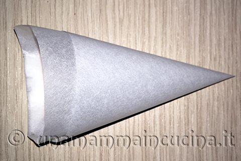 Oggi un piccolo tutorial su come preparare una siringa per pasticcere o sac-a-poche fatta in casa con la carta da forno (http://www.unamammaincucina.it/come-preparare-una-sac-a-poche-o-siringa-per-pasticcere-passo-per-passo/). Da utilizzare per decorare i vostri dolcetti di pasta frolla(http://www.unamammaincucina.it/ricette/ricetta-pasta-frolla-sorelle-simili-croccante-per-biscotti-e-crostate/) con la ricetta della glassa di ieri…