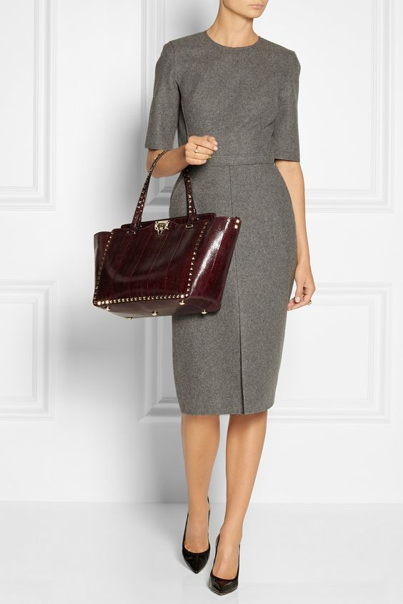 Grey suit styled dress. Corporate Attire | Female Office Attire