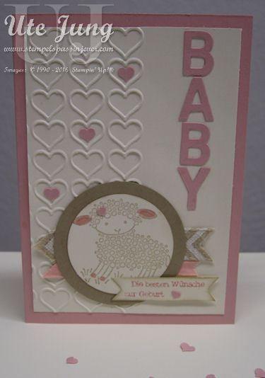 "Babykarte mit dem Stempel ""Easter Lamb"""