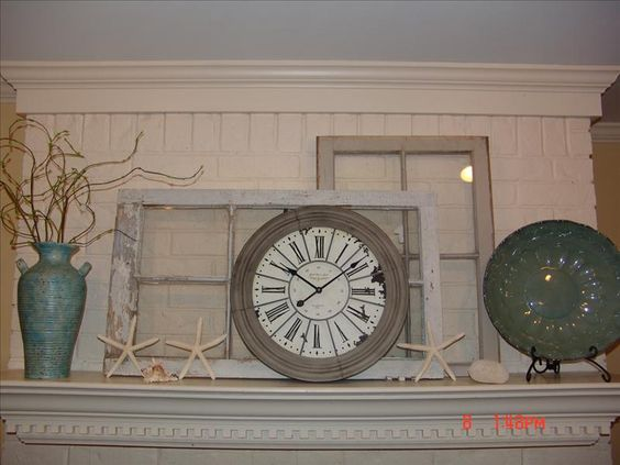 Old windows and clocks