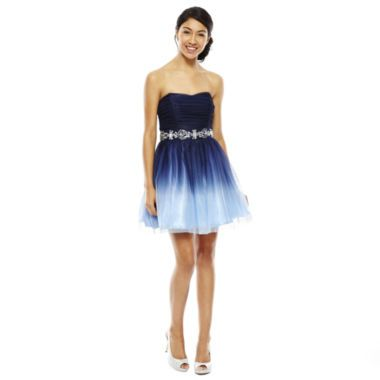 Bee Darlin Strapless Ombré Short Dress found at @JCPenney  R&39s ...