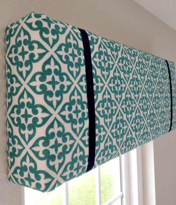 A Thoughtful Place: How to Make a Pelmet Box {Tutorial} (Love the fabric and drastic contrasting ribbon)