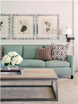 coffee table, mirrored framed artwork: Contemporary Family Room, Coffee Table, Livingroom, Living Room, Room Design, Color Palette