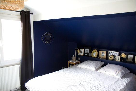 Deco Chambre Bleu Fonce Et Gris In 2020 Home Home Decor Deco