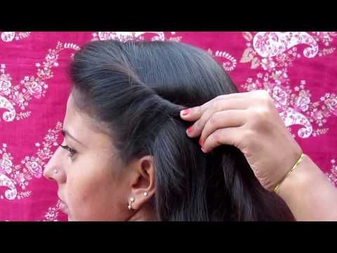 Everyday Hairstyle Collage Girls Hairstyle Youtube Simple Hairstyle For Saree Front Hair Styles Saree Hairstyles