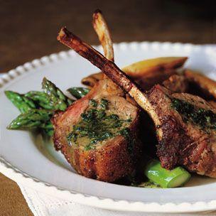 Rack of Lamb with Mint Sauce  William-Sonoma recipe