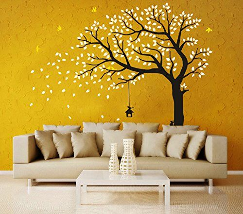 Huge Family Tree Wall Decals Green Tree Removable Wall Decor