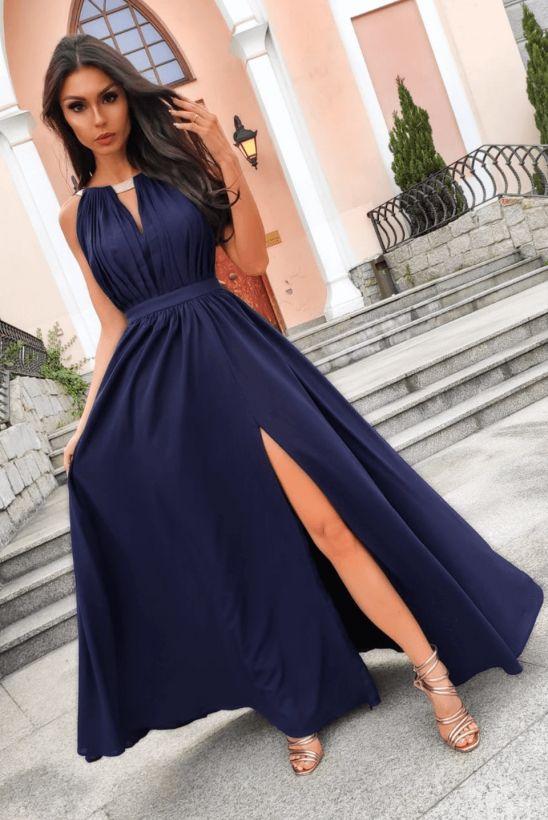 Elisa nude sukienka rzymianka dla druhen swiadkowych wesele