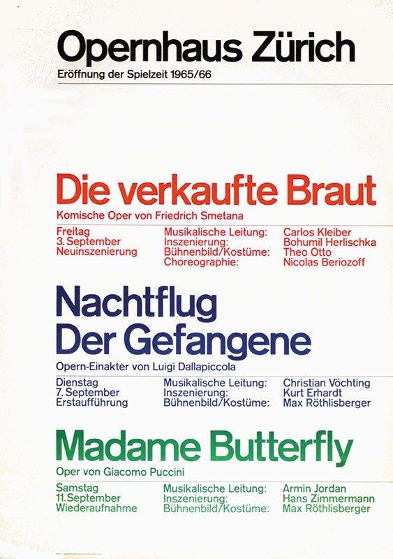 Müller-Brockmann  _ Opernhaus Zürich (1965)