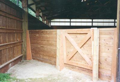 Gate on an angled wall