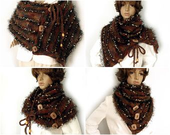 Poncho/cape or scarf cowl! Many in one! Scarf transformer!
