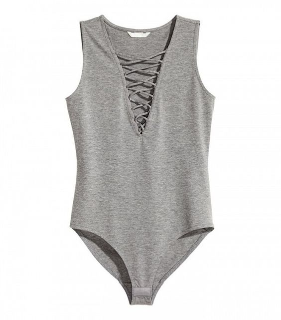H&M Bodysuit With Lacing: