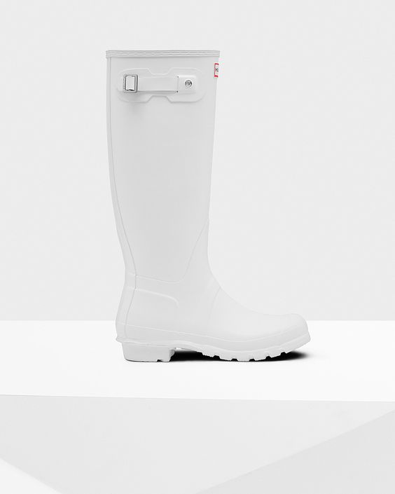 Womens White Tall Rain Boots | Official US Hunter Boots Store ...