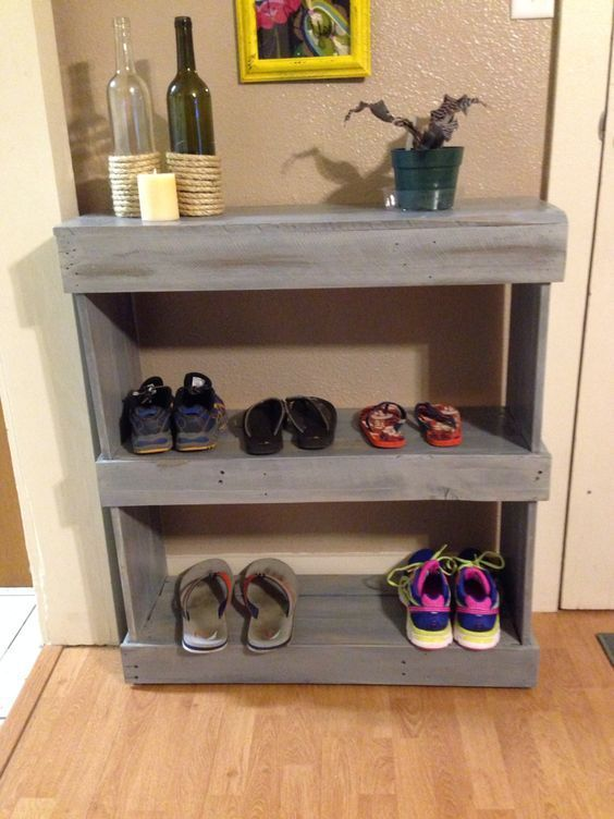 16 Creative Diy Shoe Rack Made Out Of Pallet And