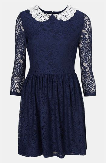 Topshop Lace Dress available at #Nordstrom