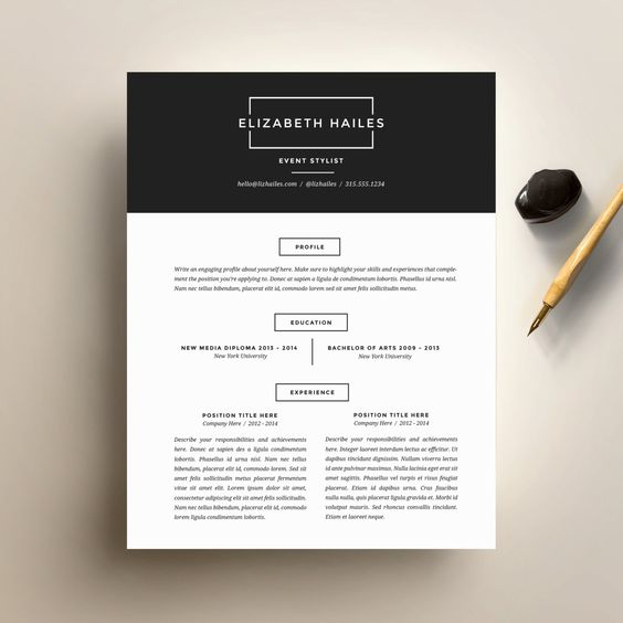 Resume Template and Cover Letter Template for Word | DIY ...
